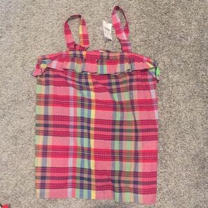 J. Crew plaid top size 4 nwt